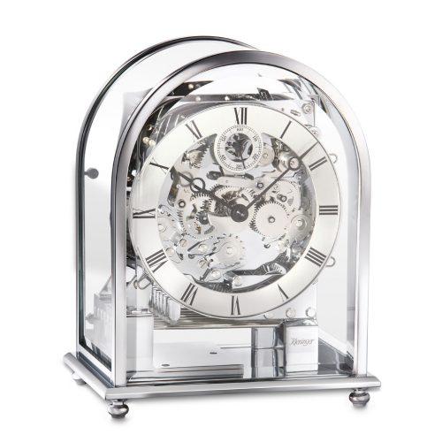 Kieninger Tischuhr 1226-02-04 verchromtes Gehäuse und Uhrwerk