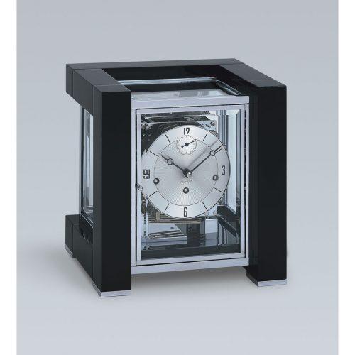 Kieninger Tischuhr 1266-96-03 Schwarz verchromtes Uhrwerk
