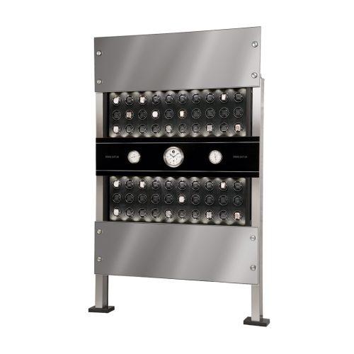 Erwin Sattler Uhrenbeweger Rotalis 60 poliertes Carbon - Panel