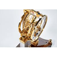 Mathias Näschke Tischuhr NT 6 mit vergoldetem Uhrwerk