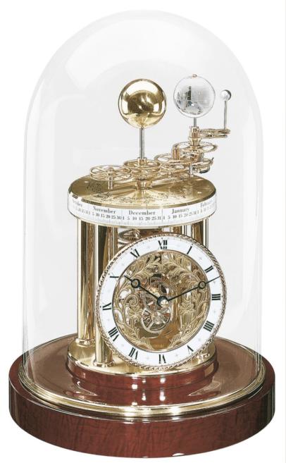 Hermle Astrolabium Tischuhr Mahagoni