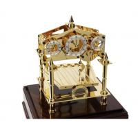 Comitti London Navigator Gold mit Mahagoni Sockel